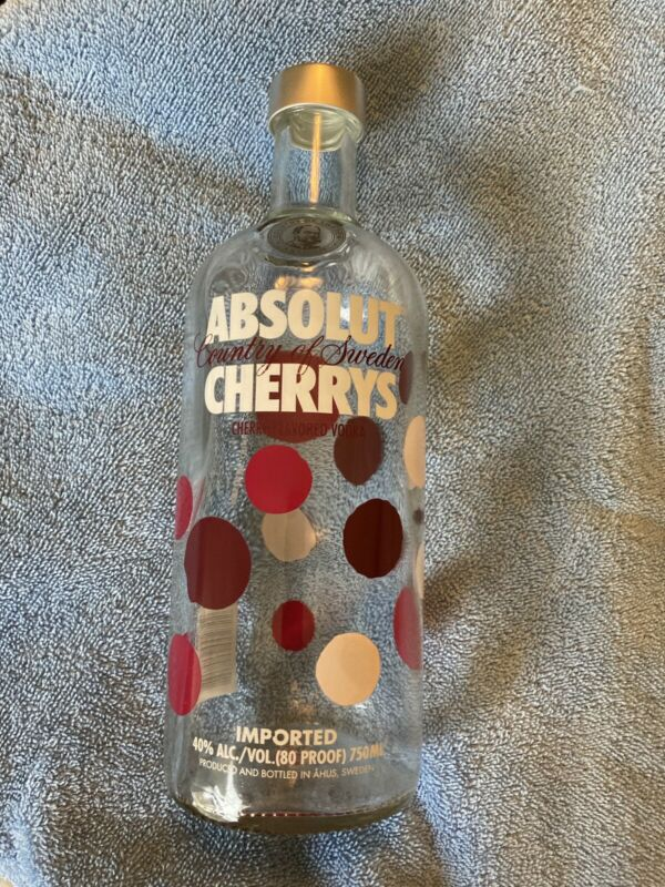 ABSOLUT CHERRYS  VODKA  Limited Edition Collector Bottle - empty