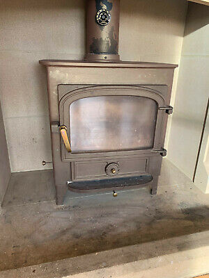 Woodburning stove, used, Clearview, needs new backing plate, collection only