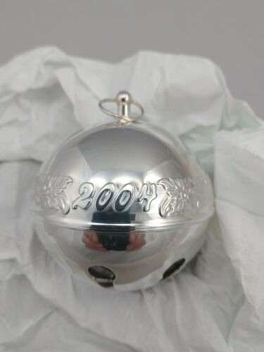 2004 Wallace Sleigh Bell STERLING SILVER w/Box Bag Brochure, Mint, Never, Used