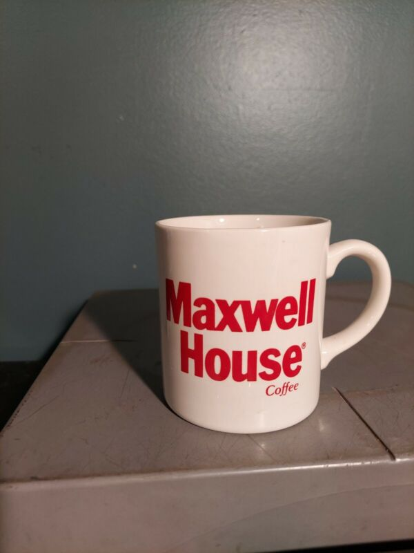 Vintage Maxwell House Red and White Coffee Mug/Tea Cup Grindley England