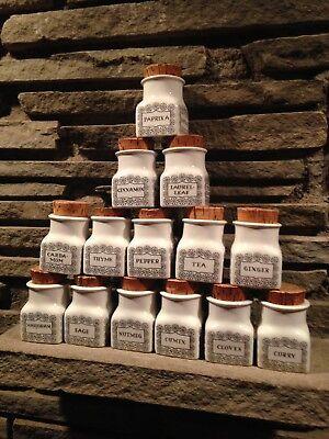 Arabia Pottery Finland Spice Jar Set Procope Tomula Daisy Mid Century