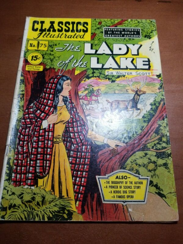 Classics Illustrated 75: (1950): Lady of the Lake: