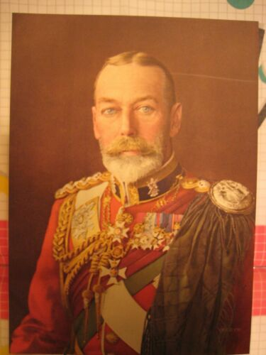 HM King George V of England - Carl Vandyk Antique Litho Print