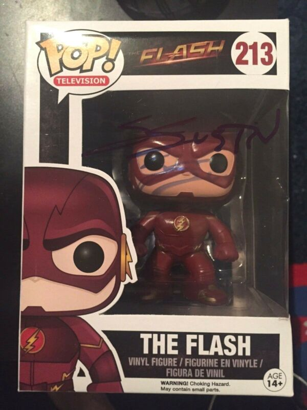 CW The Flash Grant Gustin Funko Pop Vinyl Autographed Signed COA E