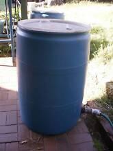 Plastic Drum Tank Barrel 200L Open top with Lid and tap Loganlea Logan Area Preview