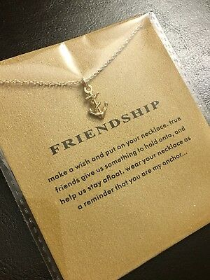 Brand New Gold Dipped Friendship Anchor Necklace Jewelry Gift Dogeared-Style - Anchor Gifts