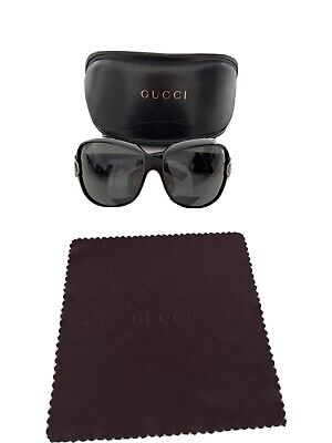 Gucci Sunglasses oversized vintage side buckle detail great used condition
