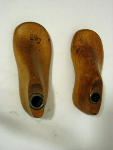 Pair of Vintage Wooden Baby Shoe Molds