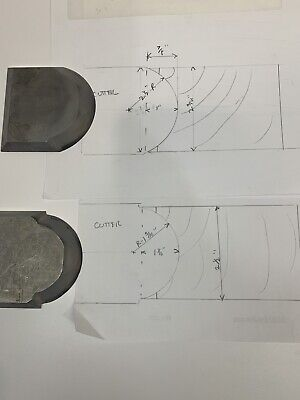 Carbide Tip Woodworking Shaper Cutters 1-12 1-516 Inside Radius