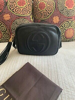 Gucci Black Soho Disco Shoulder-Bag *GENUINE*