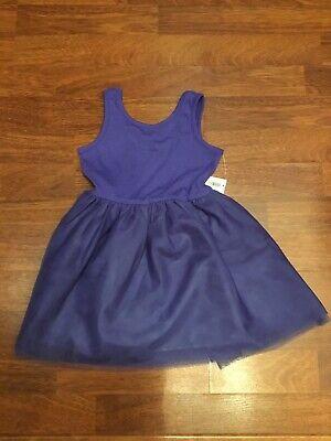 Old Navy Girls 2T Purple Sleeveless Tank Style Knit Tutu Skirt Tulle Dress NWT](Navy Tutu Dress)
