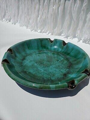 "VINTAGE 10"" BLUE MOUNTAIN POTTERY ROUND ASHTRAY BMP RETRO MCM CANADIAN GLAZED"