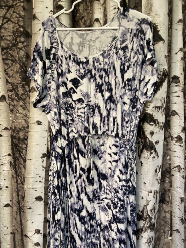 Latched Mama Tie Dye Nursing Dress 1X