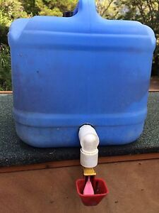 Water drum feeder for chickens/ducks/etc Logan Village Logan Area Preview