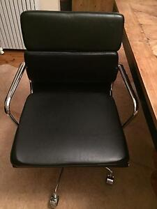 Eames Plush padded replica low back office chair: Half leather. Paddington Eastern Suburbs Preview