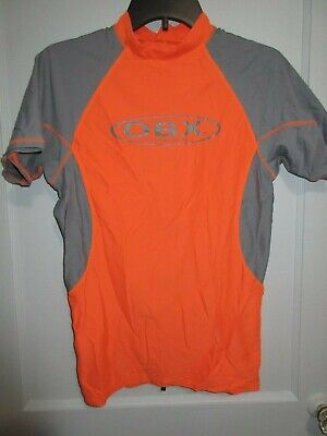 Outerbanks OBX Mens Compression L/XL Rashguard Orange Gray (Mens Compression Swimwear)