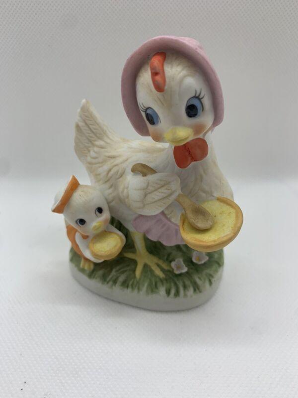 Anthropomorphic Napco Chicken And Chick C-8821