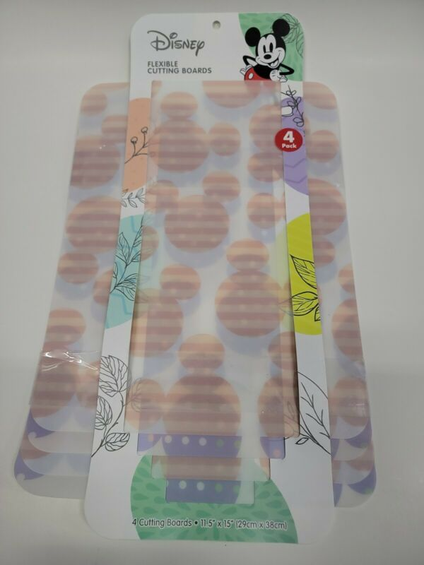 """NEW ~ Disney Mickey Mouse Flexible Cutting Boards☆ 4 Cutting Boards 11.5"""" x 15"""""""