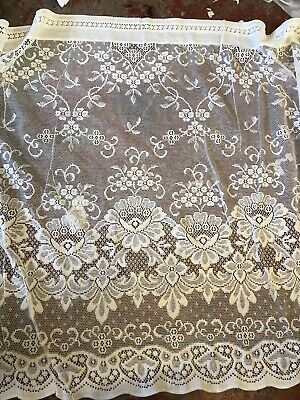Victorian Design Cream  Lace Curtain Panelling Period design 88cms To Finish for sale  Shipping to Ireland