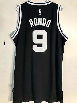 ADIDAS NBA BOSTON CELTICS RAJON RONDO BLACK SWINGMAN JERSEY sz XL