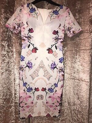 Hope & Ivy Floral Fitted Dress Size 6