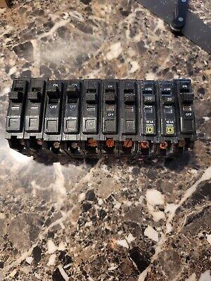 Square D Qo120 Single Pole Circuit Breaker 20 Amp 120240 Lot Of 10