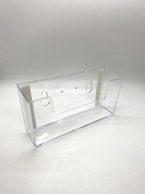 New 6w X 3.5h Postcard Brochure Holder Wall Mount Or Countertop Clear Acrylic