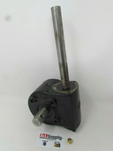 "NEW BUYERS SALTDOGG GEARBOX ASSY V BOX STAINLESS SALT SPREADER 1""  1401200"