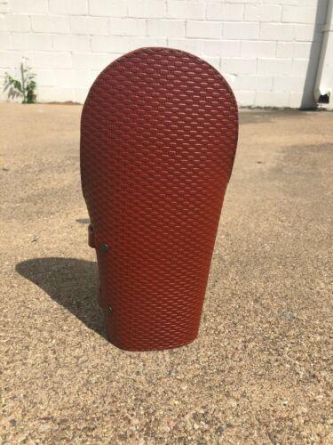 New Custom Cherry Wine Leather Pipeliner Welding Arm Padded Cuff