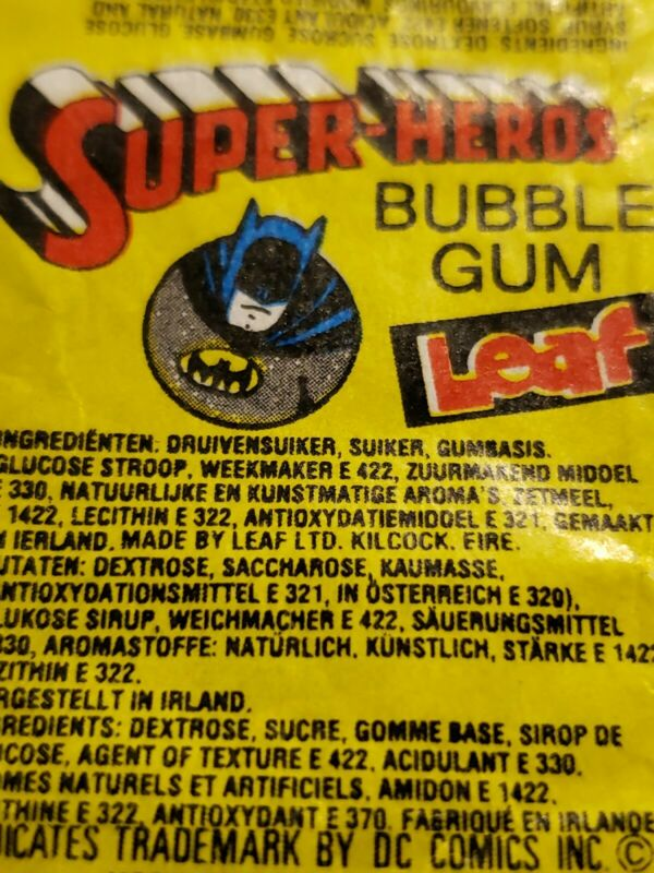 RARE 80S BATMAN BUBBLE GUM WRAPPER VINTAGE
