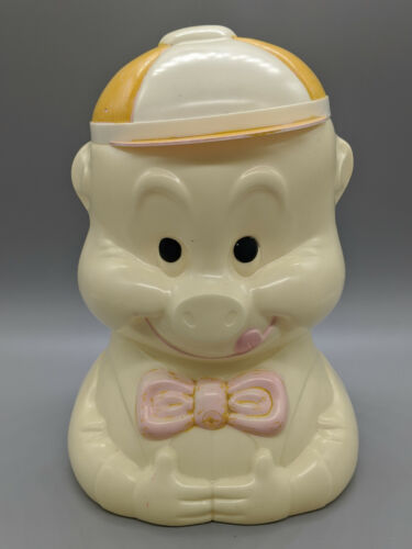 Vintage Alladin USA 1940s Plastic Paddy Pig Cookie Jar-Free Shipping