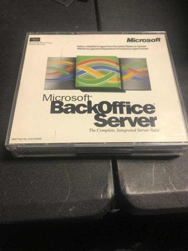 Microsoft Back Office Small Business Server 4.0 With Product Key