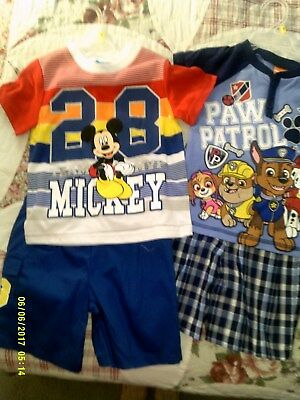 PAW PATROL, DISNEY TODDLER OUTFITS TWO SETS SIZE 3T  NEW WITH TAGS ()