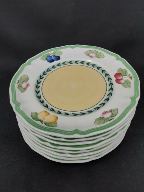 "Villeroy Boch French Garden 6 3/4"" Bread/Butter Plates (8)"