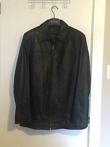 Danier Black Leather Jacket - M/T