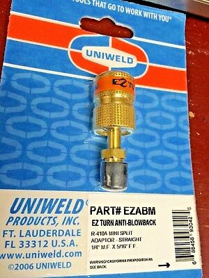 Anti-blowback Valve Uniweld Ez Turn Part Ezabm 14 Mf X 516 R410a
