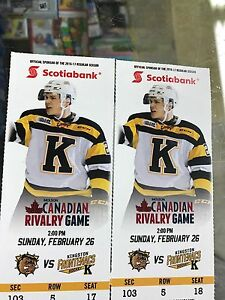Frontenacs VS Hamilton Bulldogs This Saturday 2 PM