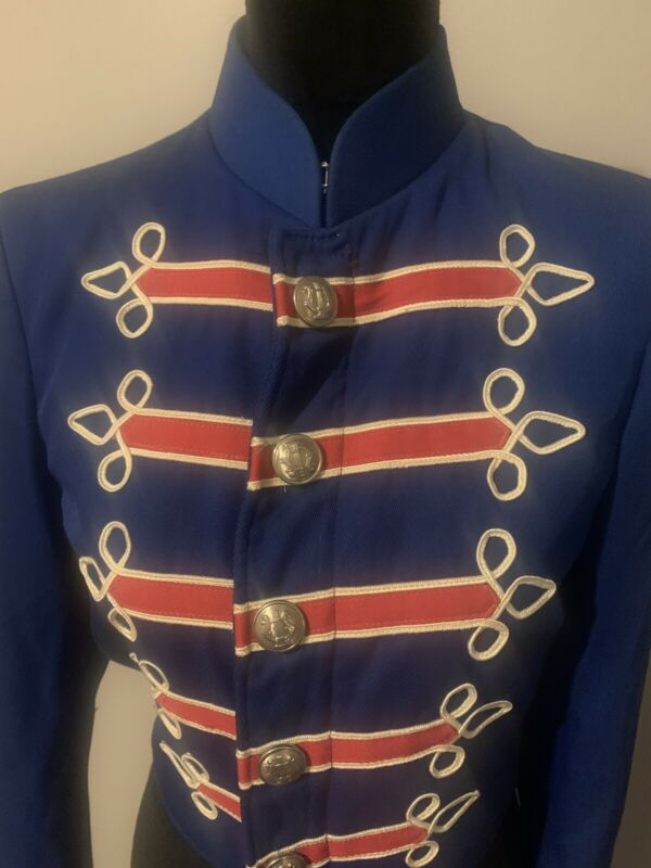 Vintage Band Uniform Top Shirt Red White Blue Embroydered