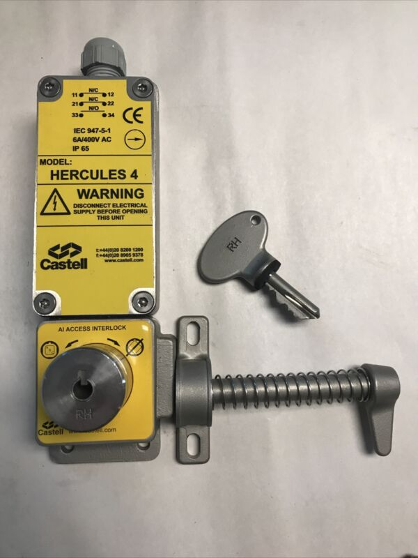 Castell Hercules 4 Access Interlock with Safety Switch IC-019-01571 RH With Key
