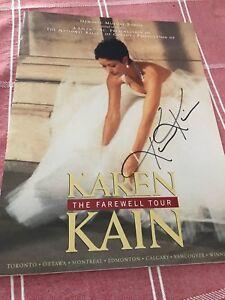 Karen Kain Farewell tour orogram