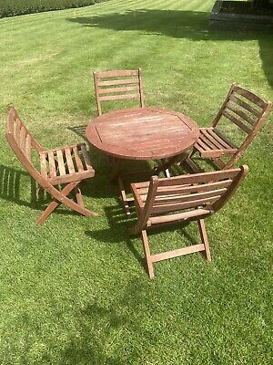 Alexander Rose Childrens Garden Wooden Table & Chairs Set Dining