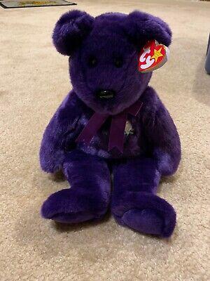 1998 Ty Beanie Buddies Princess Diana The Bear NWMT