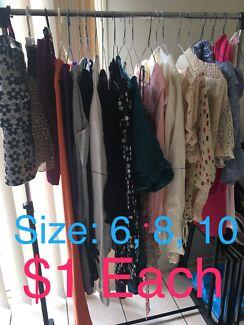 Size 6 to 10 female clothings