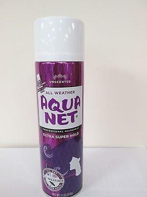 Aqua Net Extra Super Hold Hair Spray, Unscented - 11 oz