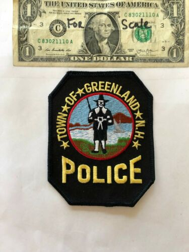 Greenland New Hampshire Police Patch un-sewn in mint shape