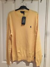 Ralph Lauren Men's V Neck Yellow Size Large Pima Cotton Strathfield Strathfield Area Preview