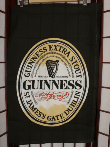 Guinness Stout Cotton Hand Towel Black Cotton by Irish Cabin Ireland Beer