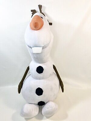 "Disney Frozen 2 Olaf 32"" Stuffed Plush Doll Big Large Giant Toy Snowflake Design"