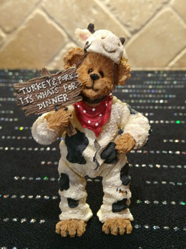 The Shoe Box Bears Boyds Bears Angus Bearger...Quit Yer Beefin 1st Edition #3230