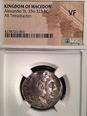 Kingdom of Macedon Alexander III AR Tetradrachm 323 BC NGC VF